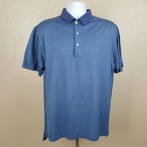 Peter Millar Men's Polo Shirt Size Medium Blue Str